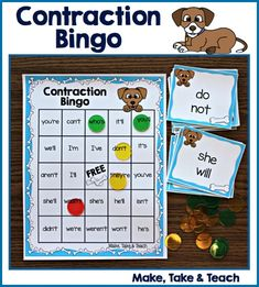 A fun twist on an old classic for teaching and practicing contractions.