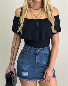 teenager outfits for school ; teenager outfits for school cute Teenage Outfits, Teen Fashion Outfits, Mode Outfits, Cute Fashion, Young Fashion, Fashion Fashion, Womens Fashion, Feminine Fashion, Fashion Black