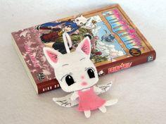 Fairy Tail, Carla du manga Fairy Tail, decoration en feutrine par IbelieveIcanfil - Fairy Tail, Carla from Fairy Tail manga, felt decoration