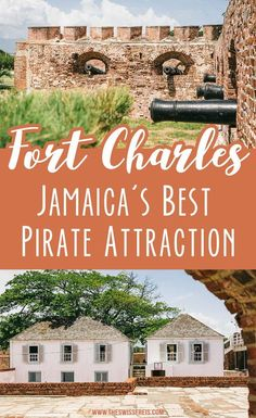 Fort Charles is one of the must-see Port Royal attractions and definitely one of the top things to do in Kingston Jamaica. Take a peek into Jamaica's real Pirates of the Caribbean history. Amazing Destinations, Travel Destinations, Travel Tips, Living In Jamaica, Barbados Resorts, Travel Around The World, Around The Worlds, Kingston Jamaica, Jamaica Travel