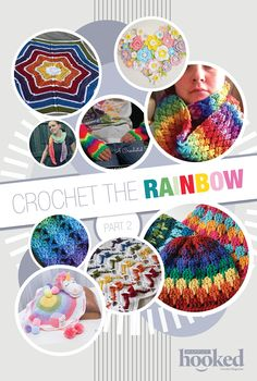 These crochet patterns packed with color will make you happy like a rainbow should!
