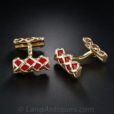 coral cufflinks - Google Search