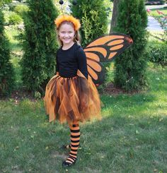 Halloween Monarch Butterfly costume to make for Katelyn