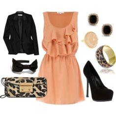 Peach flirty dress