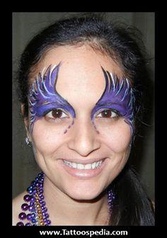 mardi gras makeup   Mardi%20Gras%20Face%20Tattoos%201 Mardi Gras Face Tattoos