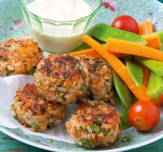 Brown-Rice-and-Salmon-Patties-Healthy-Snack-Recipes