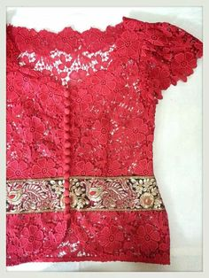Red cute kebaya
