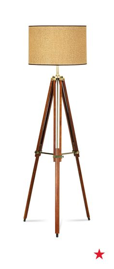 The tripod base on this modern floor lamp will give your bachelor pad some eye-catching, contemporary style — not to mention earn you a few compliments along the way