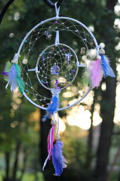 Beyond The Fairy Door - Dream Catcher  The Pendent in the center is a locket that opens so you can place your wishes inside
