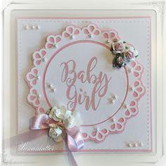 Lunasdatters Scrapbooking: Baby kort - pige