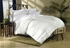 900 Thread Count Baffle Box Medium Weight GOOSE DOWN Comforter, All Year, White, Queen by Egyptian Cotton Factory Outlet Store. $139.99. Filling with 750+ Fill power, 50oz, Hand Harvested, 100% Goose Down. Luxurious 900TC Egyptian Cotton Cover. Hypo-allergenic, Allergy Free. True baffle box design to keep the down in place. Goose Down Comforter Queen Size 90 x 90 inches for Medium weight warmth. Brand New and Factory Sealed in a Beautiful zippered package. Package co...