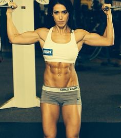 """Bella Falconi. BTW, I really don't have a muscly lady fetish. I keep this board as artistic anatomical reference and I can't help but think that a fantasy """"heroic in stature"""" woman (say Wonder Woman, the ass-kicking Amazonian warrior demigoddess) would look like this in real life."""