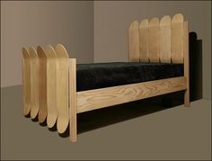 Skateboard bed frame....I would prefer if they had grip tape and decals, but cool idea to repurpose old skateboards.