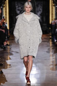 Stella McCartney 2014 Fall over-size coat (cocoon shape) with rib knit sleeve cuff