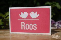Letterpress geboortekaartje – Roos