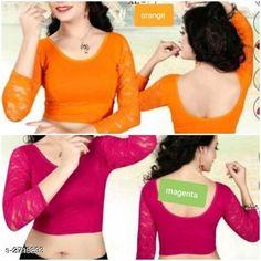 Blouses Unique Designer Cotton Spandex Blouses ( Pack Of 2 ) Fabric: Cotton Spandex Sleeves: Sleeves Are Included Type: Stitched Description: It Has 2 Piece Of Women's Blouse Pattern: Solid Sizes: 36 (Bust Size - 36 in  Length Size - 15 in) 38 (Bust Size - 38 in  Length Size - 15 in) 40 (Bust Size - 40 in  Length Size - 15 in) Country of Origin: India Sizes Available: 36, 38, 40   Catalog Rating: ★4.2 (483)  Catalog Name: Siya Unique Designer Cotton Spandex Blouses Combo Vol 18 CatalogID_368585 C74-SC1007 Code: 714-2719893-