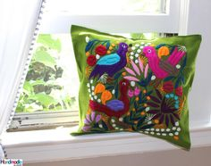 New pillow covers. New designs availables online in our Etsy shop #handmade #pillow #ethnic #embroidery #madeinmexico #chiapas #homedecor #cushioncover #fairtrade