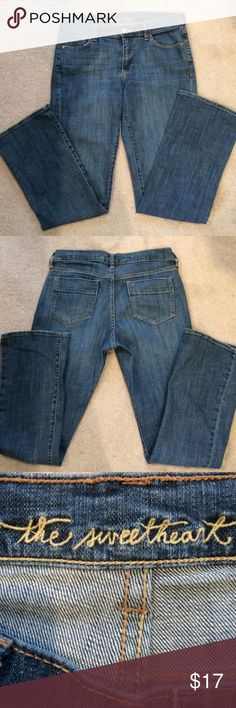 Boot Cut Jeans Medium Wash The Sweetheart blue jeans, medium wash. Slightly boot cut. 99% cotton, 1% spandex. My Sweetheart Jeans Boot Cut