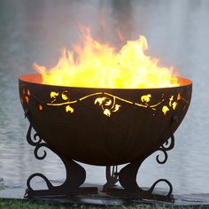 The Exterior Fire Pit Ring – Outdoor Kitchen Designs Fire Pit Sphere, Fire Pit Bowl, Fire Bowls, Fire Pits, Garden Fire Pit, Diy Fire Pit, Fire Pit Backyard, Backyard Seating, Steel Fire Pit