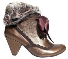 ChaniiB Cherchez gold boot! lush to wear in the cold weather but still making a statement!