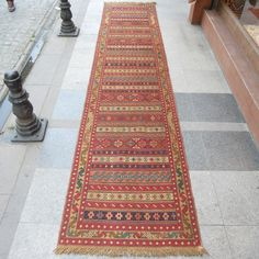 Vintage Turkish Kilim Runner Rug,150