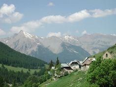 Alpine village near Barcelonnette France