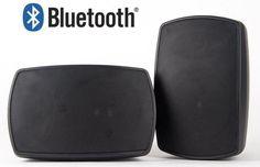 75W Bluetooth Speakers Outdoor Patio Deck Pool Porch Clear Premium Sound Black #AudioOSD