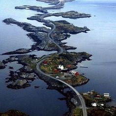 Atlantic Ocean Road, Norway #BucketListVacations ⬇️ tag someone you would road trip with!