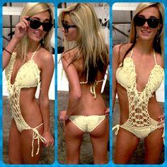 New Fringe Monokini Scrunch Butt Bottom Swim Suit!!! Get it now for only $19.95 ❤️www.LHDC.com❤️ #longhairdontcare #lhdc #LHDCclothing ⭐️www.LHDC.com⭐️