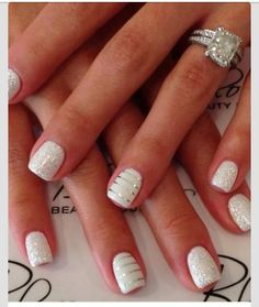 Gorgeous nails to match a beautiful ring