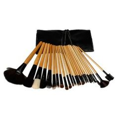 Professional 24 Pcs Makeup Make up Cosmetic Brushes Set Kit Eyeshadow Eyebrow Eyelash Eyeliner Lip Powder Brush with Black Bag Case Pouch by Crazy Cart. $16.62. Features: 1. The makeup brush set is easy to carry and use 2. With superior-quality, the makeup brushes in the set will not irritate your skin 3. Durable unique packaging can well protect your makeup brushes 4. It is an important beauty essential for you 5. Handle made of plastic and aluminum 6. It is ...