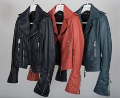 Yummy Balenciaga Moto jackets.