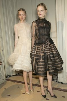 Backstage - Valentino Couture Spring 2013