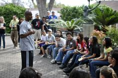 T.J. Ford went on a scavenger hunt with Ms. Ortiz's 6th grade class from Harlandale Middle School at the San Antonio Zoo in March 2012.