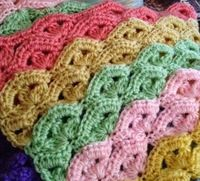 Irish Wave Crochet Baby Blanket- would be pretty solid or in ombré