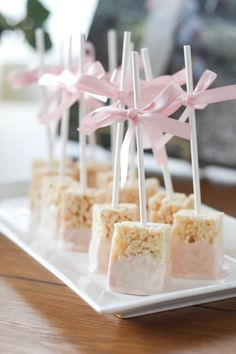 Baby Shower Food Ideas | baby girl baby boy snack foods baby shower snacks shower finger foods baby shower sweets table rice krispies for baby shower pink rice krispy treats