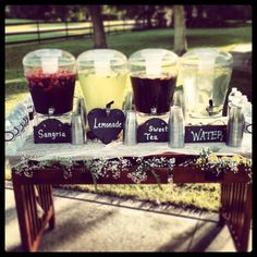Weddings & Events by Magen, Wedding Decor, Rustic Wedding, Burnett Barn, Barn Wedding, Florida Barn Wedding, Yellow Wedding, Vintage Wedding, Beverage Table, Lemons, Wedding Signage