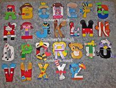 Disney Character Letter Alphabet Wall