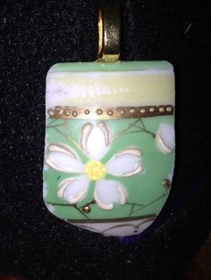 Floral Up-cycle Porcelain Pendent by BeccasjamsandCrafts on Etsy