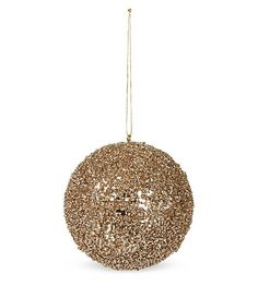 Kit out your tree in glorious traditional style with this glitter bauble from Goodwill. Bauble, Gold Glitter, Xmas, Ceiling Lights, Traditional, Pendant, Home Decor, Christmas, Homemade Home Decor