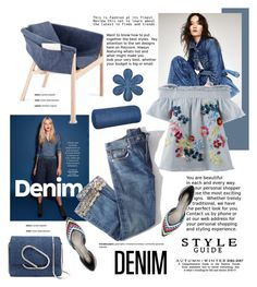"""""""All Denim, Head to Toe"""" by cruzeirodotejo ❤ liked on Polyvore featuring Brock Collection, Tanya Taylor, Stuart Weitzman, 3.1 Phillip Lim, Karin Maki and alldenim"""