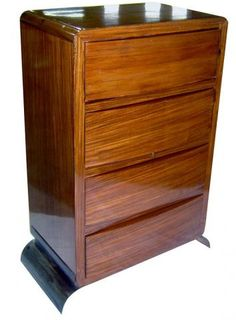 Jacques Adnet French Art Deco Palissandre Chest | Modernism