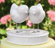Lovebirds Figurines and  Base Wedding Cake Topper