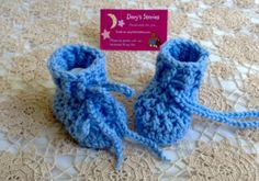 Crochet Baby Boots  Sky Blue  6 months by Dory1963 on Etsy, $6.50