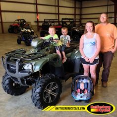 Thanks to Houston, Cayden, Timothy, Summer and Robby Beasley from Waynesboro MS for getting a 2013 Honda FourTrax Foreman 500 4x4. @HattiesburgCycles