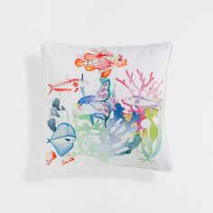 SEA FLOOR PRINT CUSHION