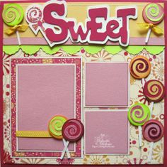 inspiration using the from my kitchen cricut cartridge | My Paper Crafting.com **: Melin's Cricut One Page Layouts