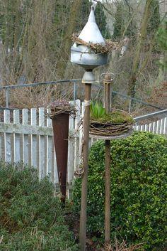 Gartenstecker aus Schrott