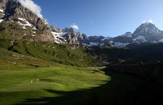 Golf Club Del Cervino, Breuil-Cervinia Italy.  Golfing in the shadow of the Matterhorn!!