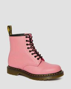 1460 SMOOTH LEATHER ANKLE BOOTS | Dr. Martens UK Dr. Martens, Dr Martens 1460, Dr Martens Stiefel, Dr Martens Boots, White Shoe Boots, Black And White Shoes, Pink Boots, Leather Lace Up Boots, Black Boots